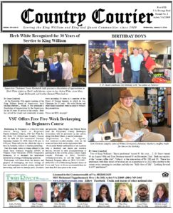 January 3, 2018 online issue of the Country Courier Newspaper