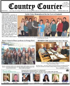 January 17, 2018 online issue of the Country Courier Newspaper