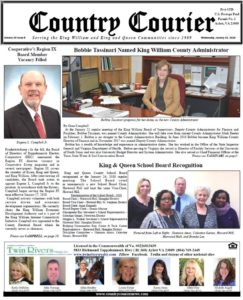 January 31, 2018 online issue of the Country Courier Newspaper