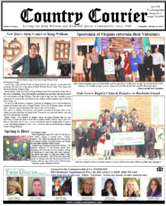 February 28, 2018 online issue of the Country Courier Newspaper