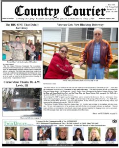 April 11, 2018 online issue of the Country Courier Newspaper. Serving the King William & King & Queen communities since 1989.