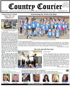 April 25, 2018 online issue of the Country Courier Newspaper. Serving the King William & King & Queen communities since 1989.