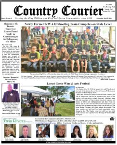 May 23, 2018 online issue of the Country Courier Newspaper. Serving the King William & King & Queen communities since 1989. Supervisor David (Dave) Hanson is guilty convicted of contributing to the delinquency of a minor, He is a member of the King William Tea Party.