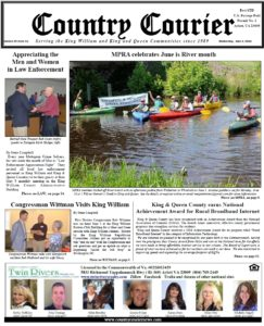June 6, 2018 online issue of the Country Courier. The Country Courier is delivered over 8,000 households and businesses in King William County and King & Queen County in Virginia. Our newspaper is also available online. If you need to advertise or have a story please contact the Country Courier. Serving the King William & King & Queen communities since 1989.