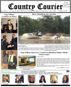 July 4, 2018 online issue of the Country Courier Newspaper. Serving the King William & King & Queen communities since 1989.