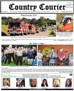 August 15, 2018 County Courier Newspaper online Issue - Walkerton Day - National Night Out