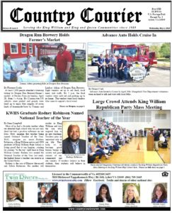 May 1, 2019 online issue of the Country Courier Newspaper. Serving the King William & King & Queen communities since 1989.