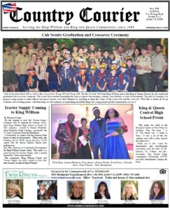 May 15, 2019 online issue of the Country Courier Newspaper. Serving the King William & King & Queen communities since 1989.