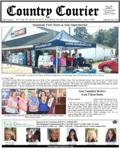 July 10, 2019 online issue of the Country Courier Newspaper. Serving the King William & King & Queen communities since 1989.