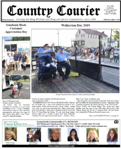 August 7, 2019 online issue of the Country Courier Newspaper. Serving the King William and King & Queen communities since 1989.