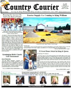 September 18, 2019 online issue of the Country Courier Newspaper. Serving the King William and King & Queen communities since 1989.