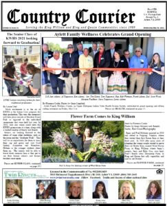 May 26, 2021, online issue of the Country Courier Newspaper. Serving the King William and King & Queen communities since 1989.