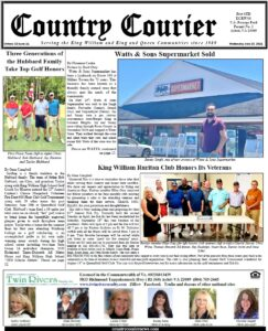 June 23, 2021, online issue of the Country Courier Newspaper. Serving the King William and King & Queen communities since 1989.