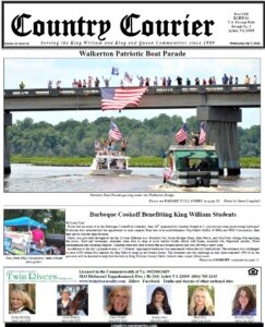 July 7, 2021, online issue of the Country Courier Newspaper. Serving the King William and King & Queen communities since 1989.