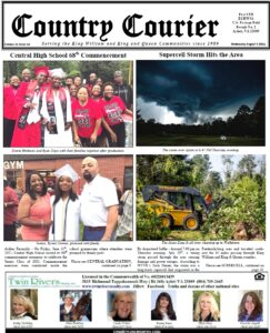 August 4, 2021, online issue of the Country Courier Newspaper. Serving the King William and King & Queen communities since 1989.