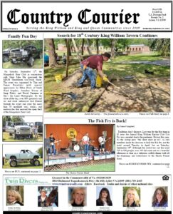 September 29, 2021, online issue of the Country Courier Newspaper. Serving the King William and King & Queen communities since 1989.